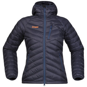 Bergans W's Slingsbytind Down Jacket w/Hood Night Blue/Dusty Blue/Pumpkin